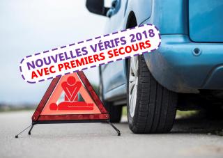 Examen permis B: Nouvelles questions sur le véhicule, la sécurité et les premiers secours